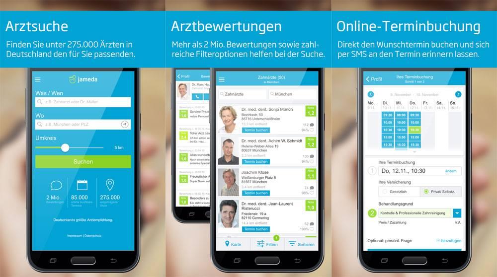 Jameda Zahnarzt App